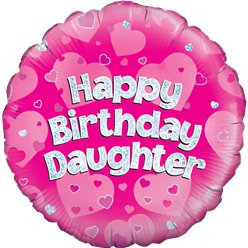 "Happy Birthday Daughter Pink Balloon - 18"" Foil"