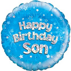 "Happy Birthday Son Blue Balloon - 18"" Foil"