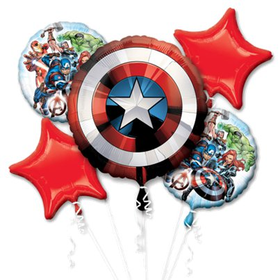 Avengers Bouquet Balloon - Assorted Foil