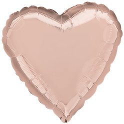 "Rose Gold 18"" Heart Foil Balloon - unpackaged"