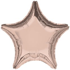 "Rose Gold 18"" Star Foil Balloon - unpackaged"