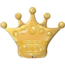 "Golden Crown Supersize Balloon - 41"" Foil"