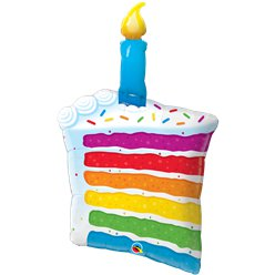 "Rainbow Cake Slice Supersize Balloon - 42"" Foil"