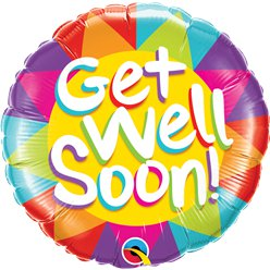 "Get Well Soon Balloon - 18"" Foil"