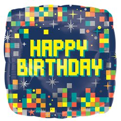 Happy Birthday Pixels Balloon - 18