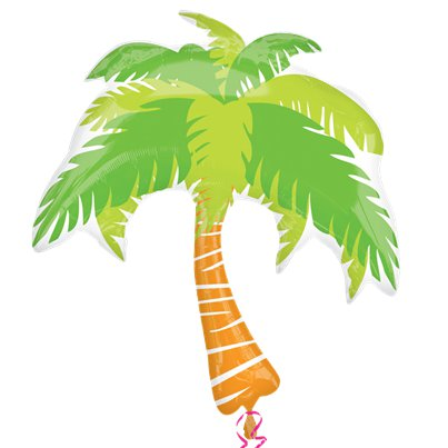 "Palm Tree Supershape Balloon - 33"" Foil"