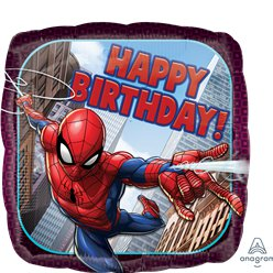 'Happy Birthday' Spider-Man Foil Balloon - 18""