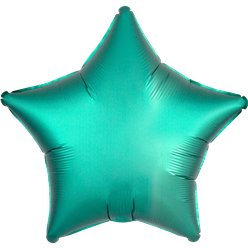 Jade Satin Luxe Star Foil Balloon - 18""