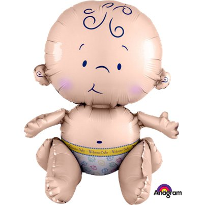Sitting Baby Foil Balloon - 15""