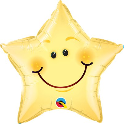 "Smiley Face Star Foil Balloon - 20"" Balloon"