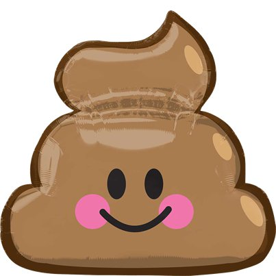 "Poop Emoji SuperShape Balloon - 25"" Foil"