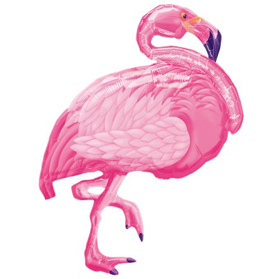 "Pink Flamingo SuperShape Balloon - 35"" Foil"