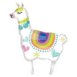 "Llama SuperShape Balloon - 41"" Foil"