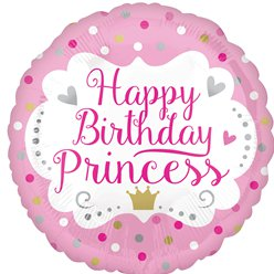 "Happy Birthday Princess Balloon - 18"" Foil"