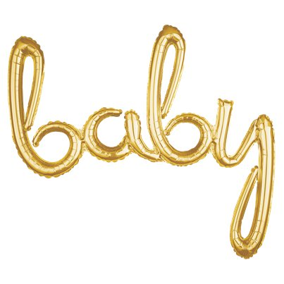 Gold Baby Phrase Balloon - 39