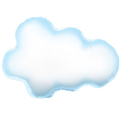 "White Puffy Cloud SuperShape Balloon - 30"" Foil"
