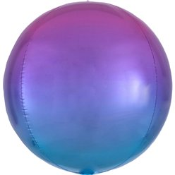 "Ombre Red & Blue Orbz Balloon - 16"" Foil"