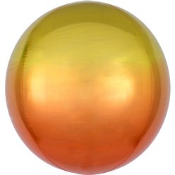 "Ombre Yellow & Orange Orbz Balloon - 16"" Foil"