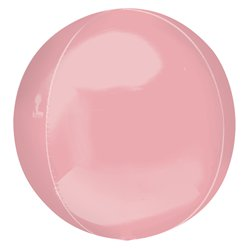 "Pastel Pink Orbz Balloon - 16"" Foil - Unpackaged"
