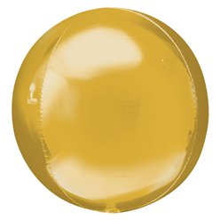 "Jumbo Gold Orbz Balloon - 21"" Foil - Unpackaged"