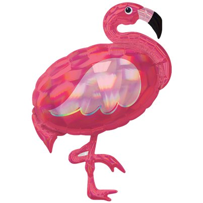 "Pink Flamingo Iridescent SuperShape Balloon - 33"" Foil"