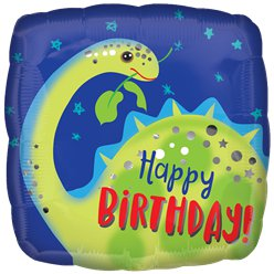 "Brontosaurus Happy Birthday Balloon - 18"" Foil"
