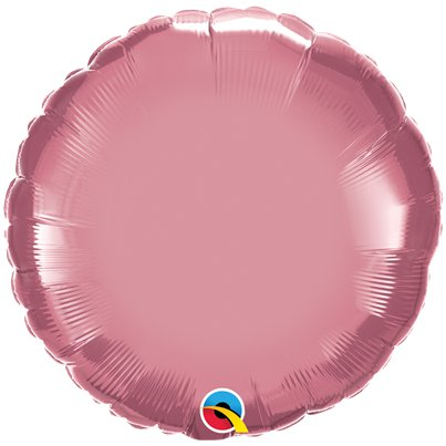 "Mauve Chrome Round Balloon - 18"" Foil - Unpackaged"