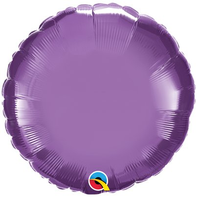 "Purple Chrome Round Balloon - 18"" Foil - Unpackaged"