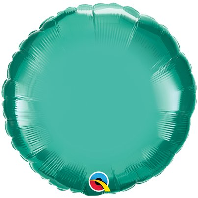 "Green Chrome Round Balloon - 18"" Foil - Unpackaged"