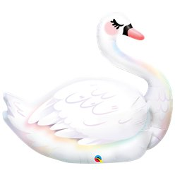 "Graceful Swan Supersize Balloon - 35"" Foil"