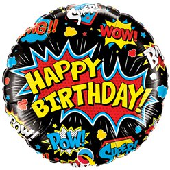 "Super Hero Birthday Balloon - 18"" Foil"