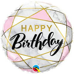 "Marble Birthday Balloon - 18"" Foil"