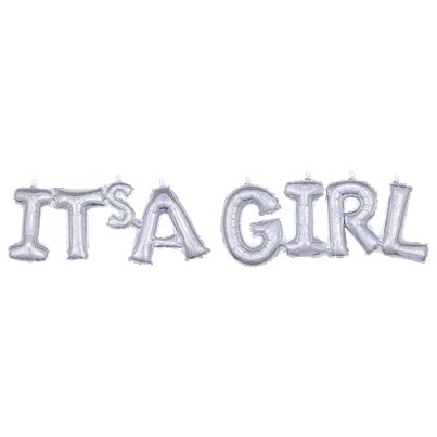 "Holographic It's A Girl Phrase Balloon - 40"" Foil"