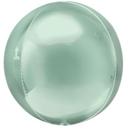 "Mint Green Orbz Balloon - 16"" Foil"