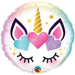 "Unicorn Lashes Balloon - 18"" Foil"