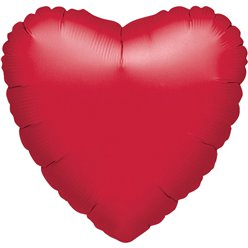 "Metallic Red Heart Balloon - 18"" Foil - unpackaged"
