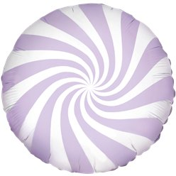 Lilac Candy Swirl Foil Balloon - 18""