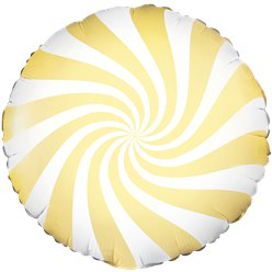Light Yellow Candy Swirl Foil Balloon - 18""