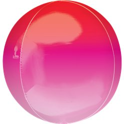 "Red & Pink Orbz Balloon - 16"" Foil"