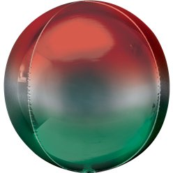 "Red & Green Orbz Balloon - 16"" Foil"