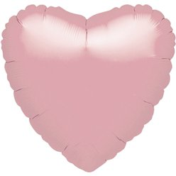 "Metallic Pearl Pastel Pink Heart Balloon - 18"" Foil - unpackaged"