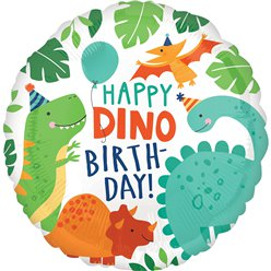 "Dinosaur Happy Birthday Balloon - 18"" Foil"