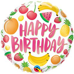 "Happy Birthday Fruits Balloon - 18"" Foil"