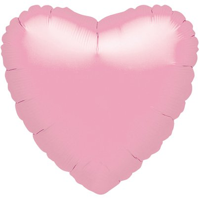 "Iridescent Pearl Pink Heart Balloon - 18"" Foil - unpackaged"