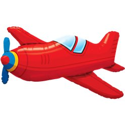 "Red Airplane Supersize Balloon - 36"" Foil"