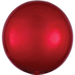"Red Orbz Balloon - 16"" Foil"