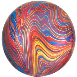 "Colourful Marblez Orbz - 16"" Foil Balloon"
