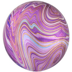 "Purple Marblez Orbz - 16"" Foil Balloon"