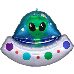 "Alien Spaceship Supershape Balloon - 32"" Foil"
