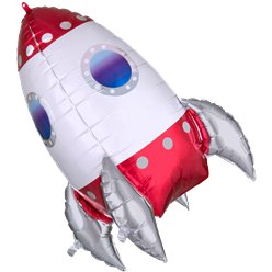 "Rocket Supershape Balloon - 32"" Foil"